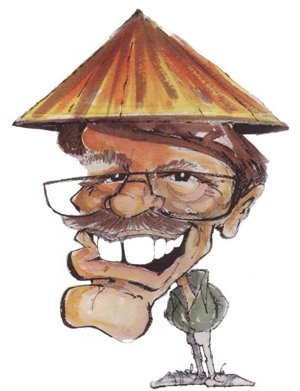 Tony Bramwell cartoon of David Taylor