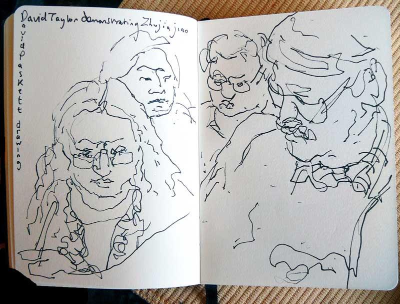 David Paskett drawing of David Taylor